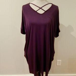 Eggplant color tunic style dress